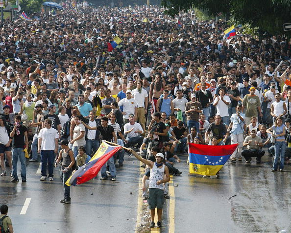 Venezuelan anti-government demonstrators